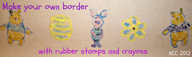 How to decorate kids room with rubber stamps and crayons