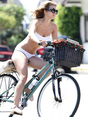 AnnaLynne McCord Goes Bikini Biking