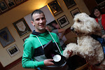 John Joe Nevin, Ireland Olympic Boxing Champion shows Clive his Silver Medal ...
