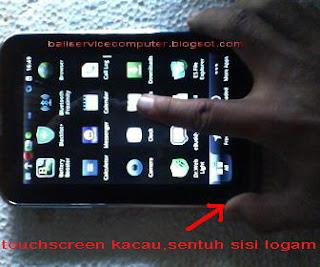 cara mengatasi touchscreen tablet rusak