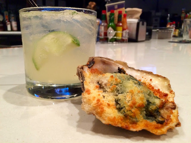 The Louisiana Mule and Rockefeller Oyster at Jolie Pearl Oyster Bar in Downtown Baton Rouge