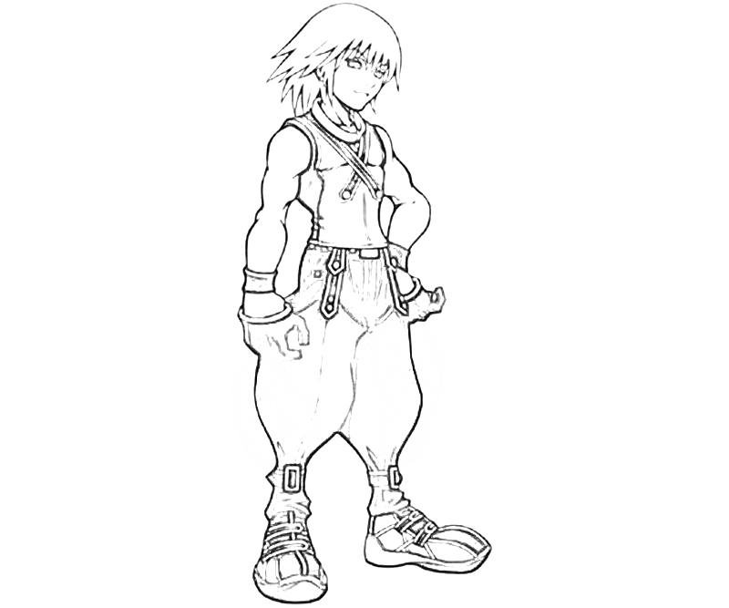 Kingdom Hearts 2 Coloring Pages 7 besten games coloring pages Bilder