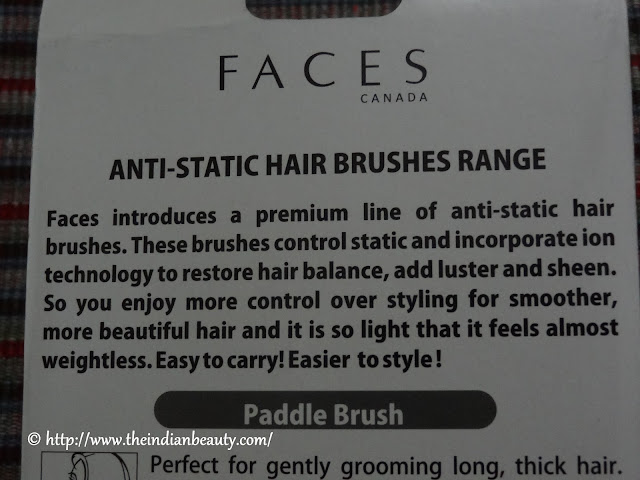 faces anti-static hair brushes