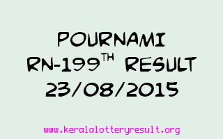 POURNAMI RN 199 Lottery Result 23-8-2015