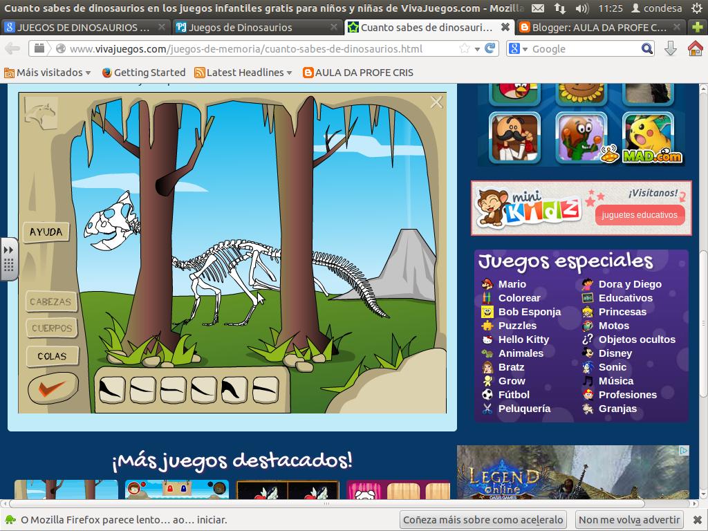 http://www.vivajuegos.com/juegos-de-memoria/cuanto-sabes-de-dinosaurios.html