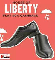Buy Liberty Footwear Flat 60% cashback From Paytm at starting Price Rs 299;buytoearn