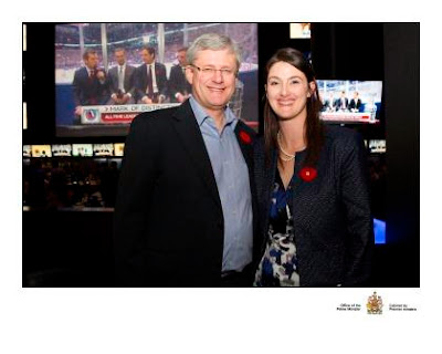 Jen Christie with Prime Minister Harper