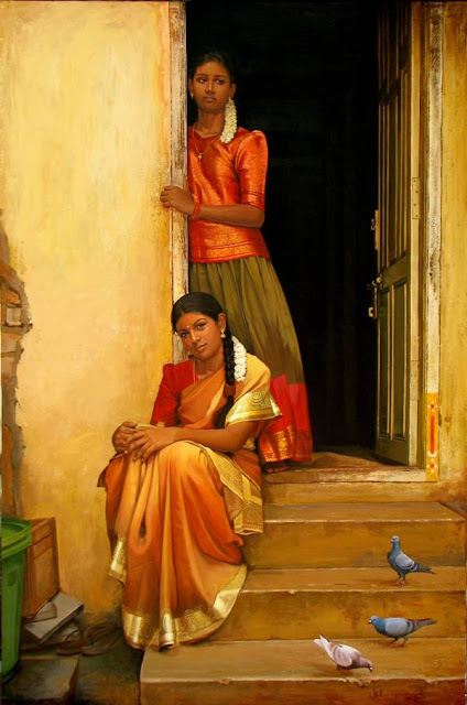 Paintings of Dravidian Women2