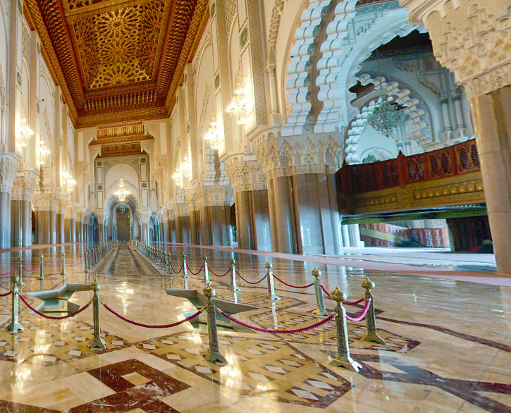 Quartiers de casablanca la grande mosqu e tortues nomades for Mosquee hassan 2 interieur