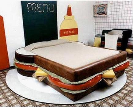 if you can see a special design in your bedroom will you smile first and jump up onto the bed lolwow it is a sandwich - Best Bed In The World