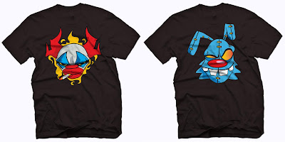 "JFury x outsmART originals ""Smokin' Clown"" & ""Voodoo Bunny"" T-Shirts"