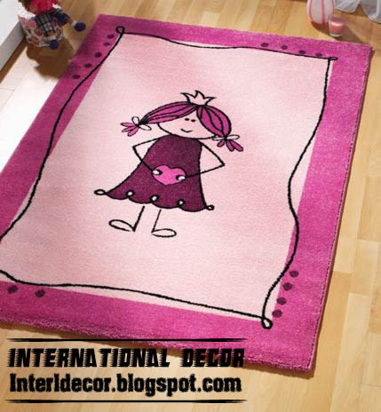 Modern Carpets models, colors for Kids & Girls room
