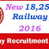 RRB Recruitment 2016 – Apply Online for 18252 Vacancies Non Technical Graduate-  Railway Recruitment Board Notification 2016