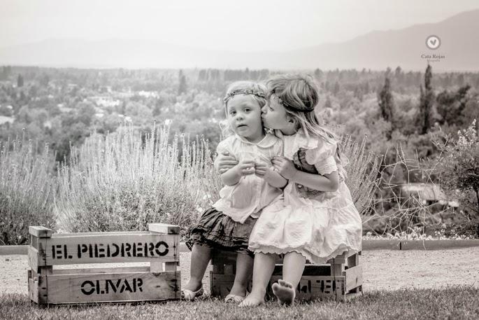 sesion de fotos al aire libre de hermanas