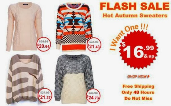 ROMWE Flash Sale - Hot Autumn Sweaters