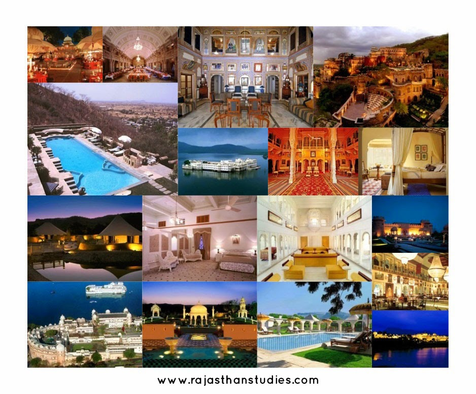 Rajasthan Heritage Hotels  Collage - Plan a Holiday / Tour to Rajasthan