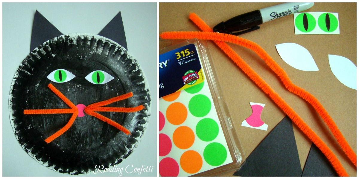 3 paper plate crafts for halloween reading confetti - Halloween Printable Crafts For Kids 2