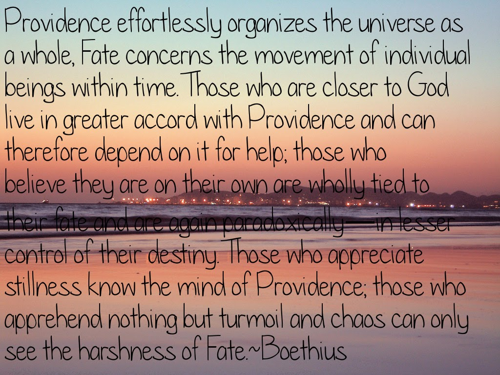 Fate concerns the movement of individual beings