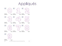 Applique Font - Numbers