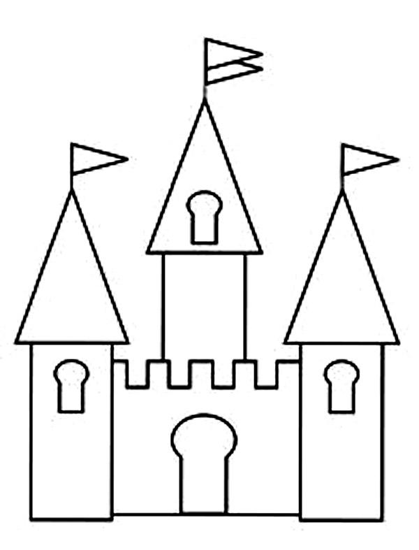 Coloring Pages Castle : title=