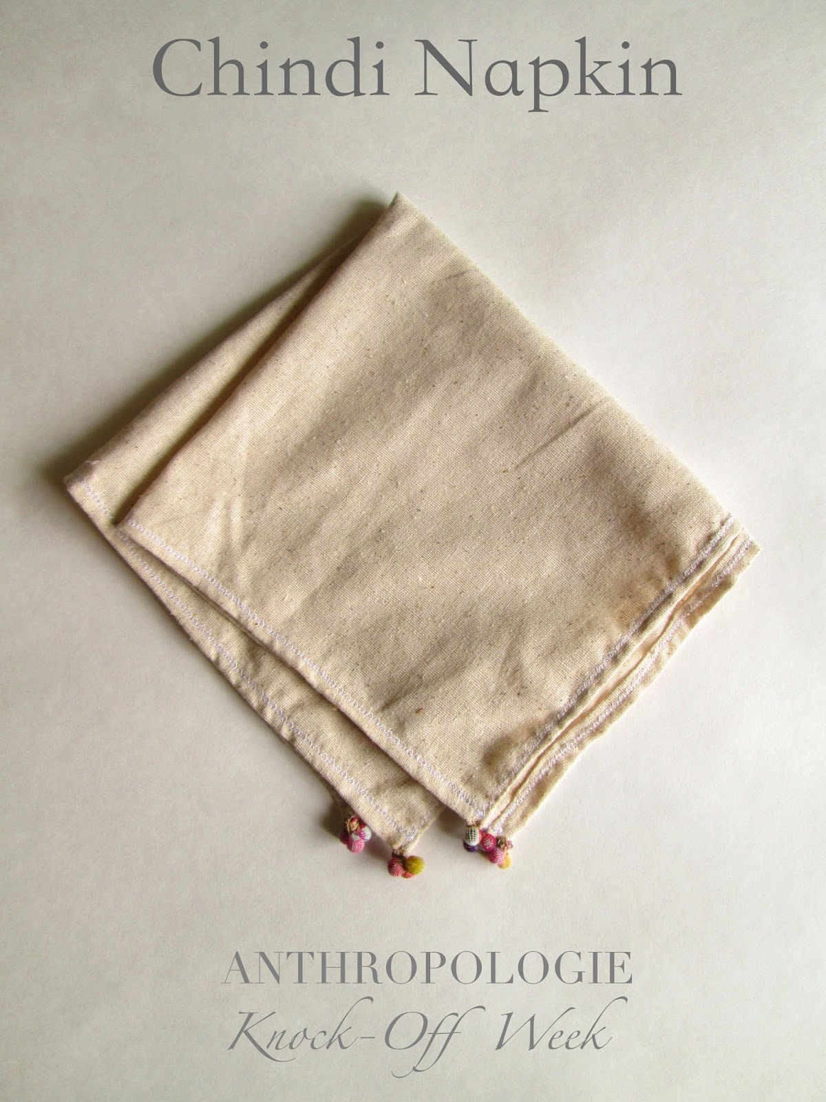 Anthropologie Chindi Napkin DIY