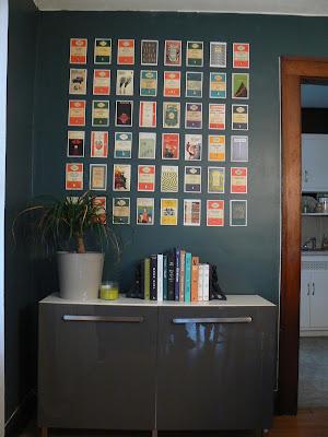 mylittlehousedesign.com DIY postcard wall art