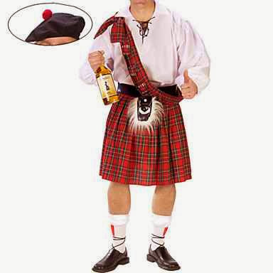 Disfraz de Escocés con Kilt