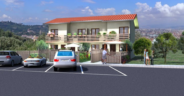 3D front elevation House