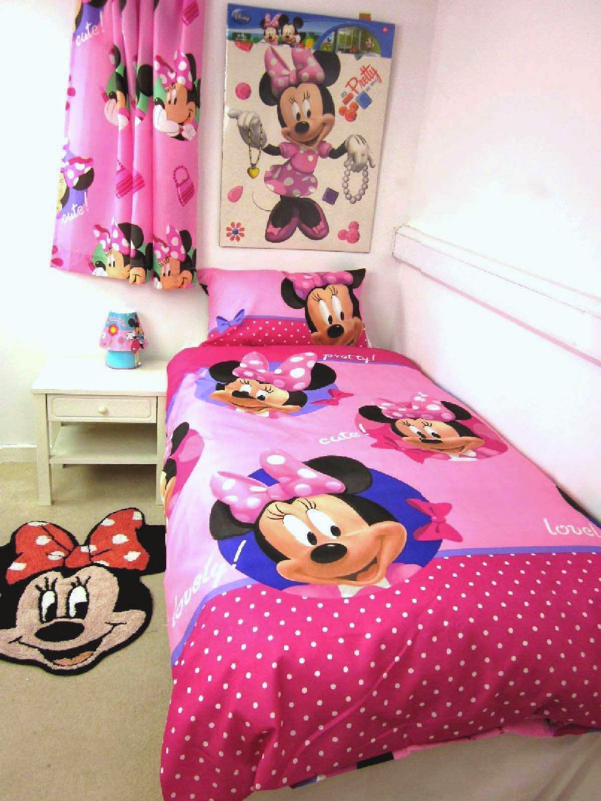 Minnie Mouse Pretty Single Duvet Cover set