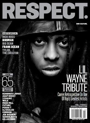 portada de la revista respect de lil wayne