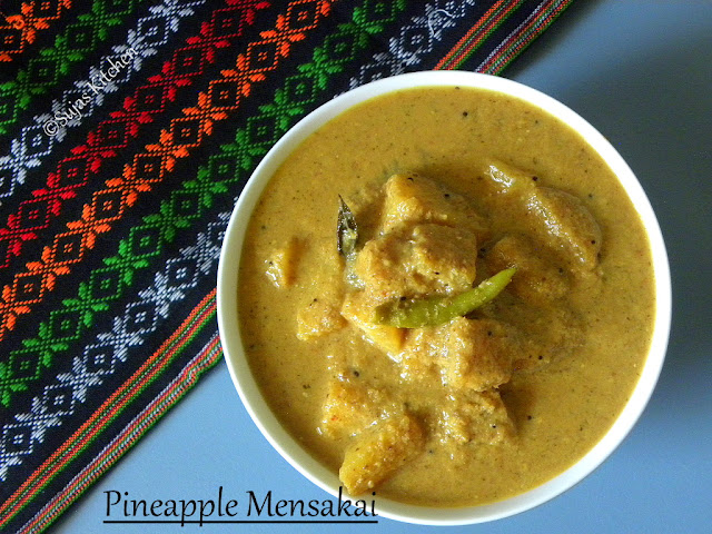 Pineapple Mensakai - Sweet & Spicy Pineapple Curry