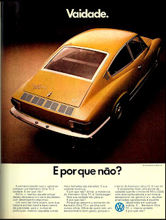 Volkswagen.  brazilian advertising cars in the 70. os anos 70. história da década de 70; Brazil in the 70s. propaganda carros anos 70. Oswaldo Hernandez.