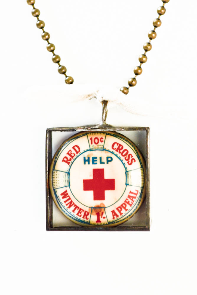 Seabold Vintage Market Red Cross Necklaces What The Red Cross