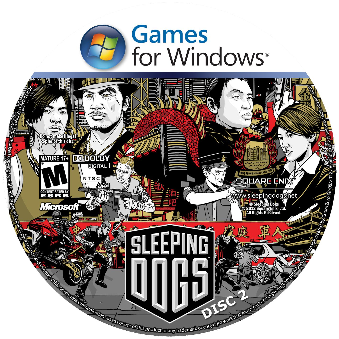 Label Sleeping Dogs Disc 2 PC