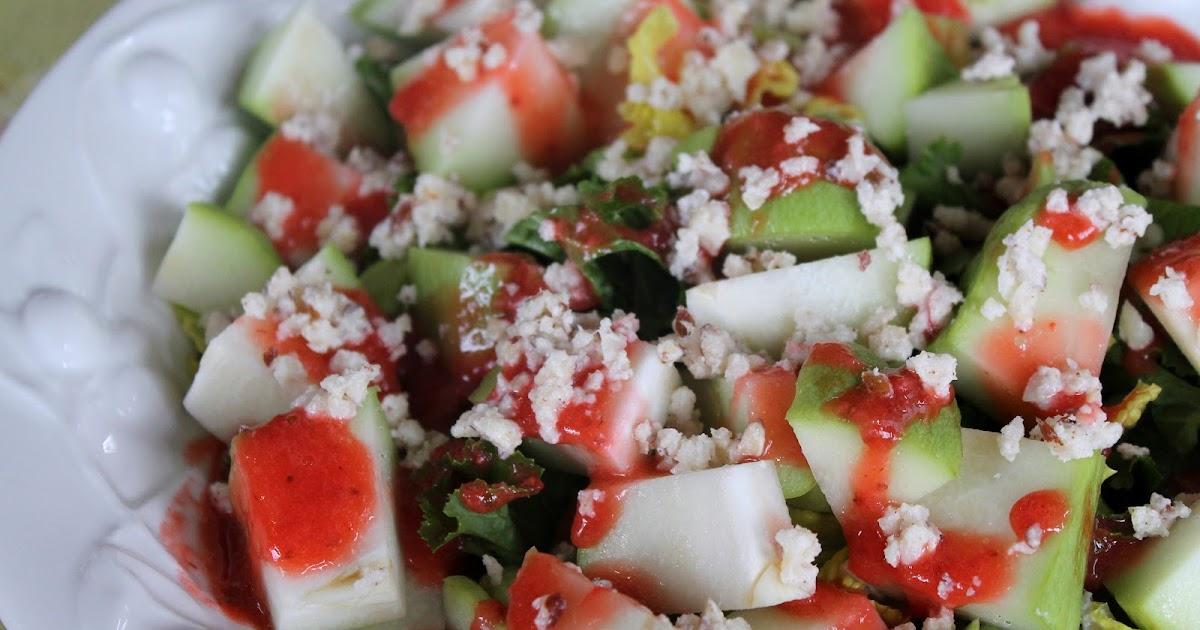 "Shugurcän: Chayote & ""Cheese"" Salad with Strawberry ..."