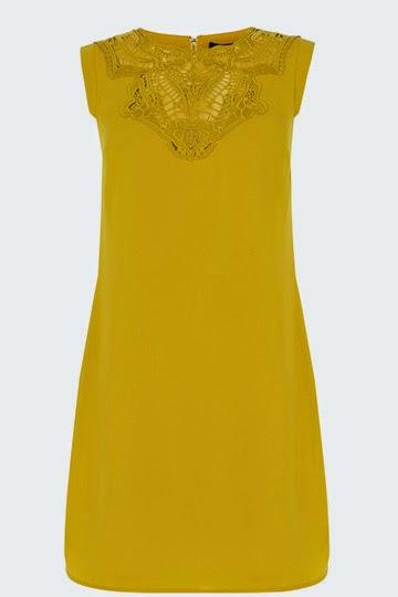mustard oasis dress