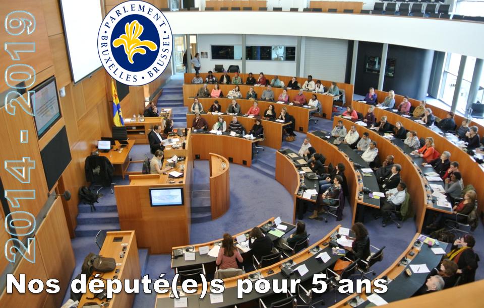 Parlement régional bruxellois 2014-2019 - Nos député(e)s pour 5 ans - Bruxelles-Bruxellons