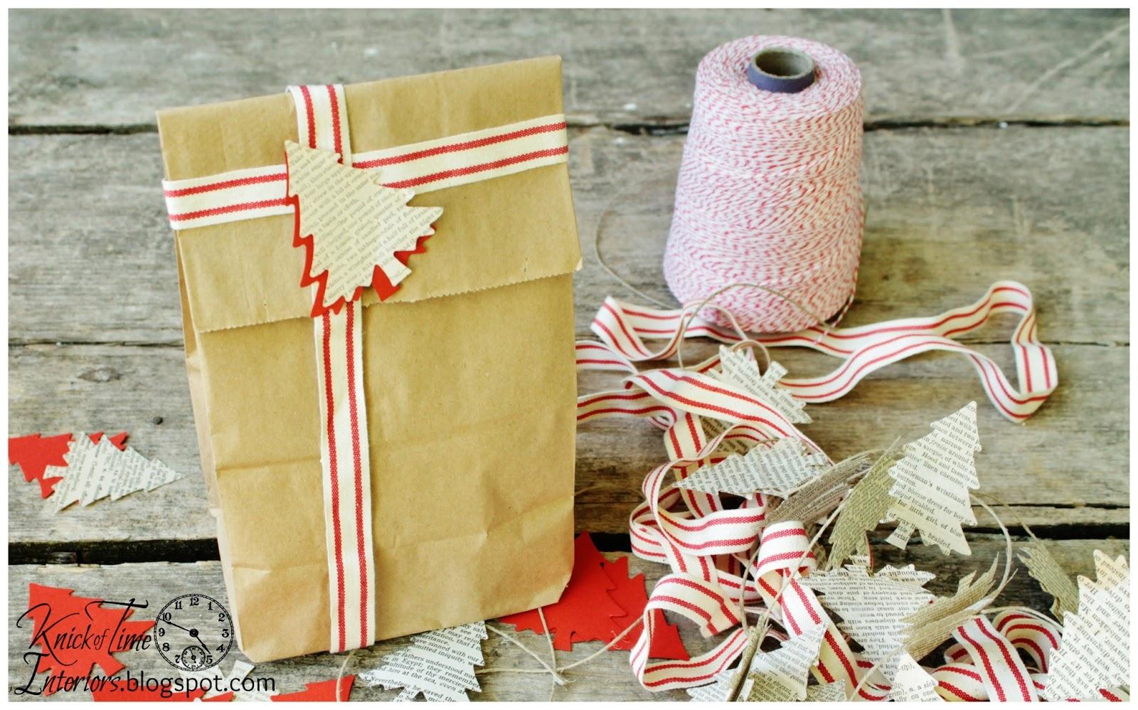 Christmas tree garland gift wrap embellishment knick