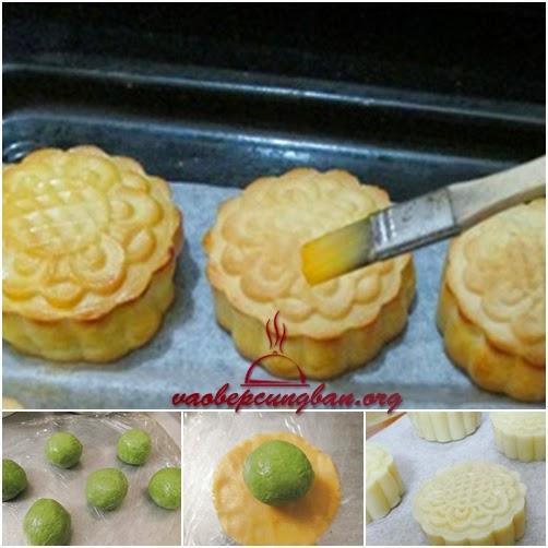 Bánh trung thu nướng nhân trà xanh đơn giản3