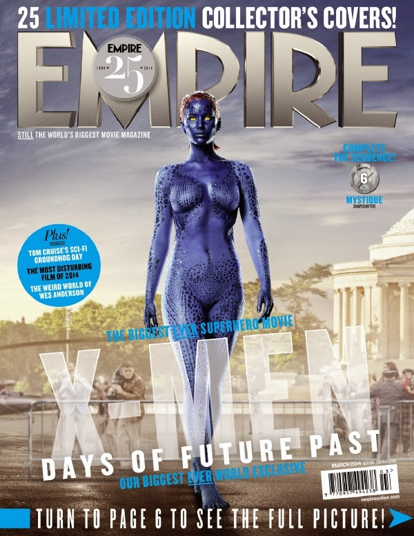 Empire covers X-Men: Days of Future Past: Mistica