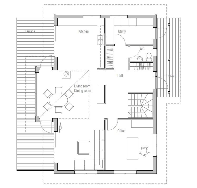Affordable home plans economical house plan ch19 for Economic house plans