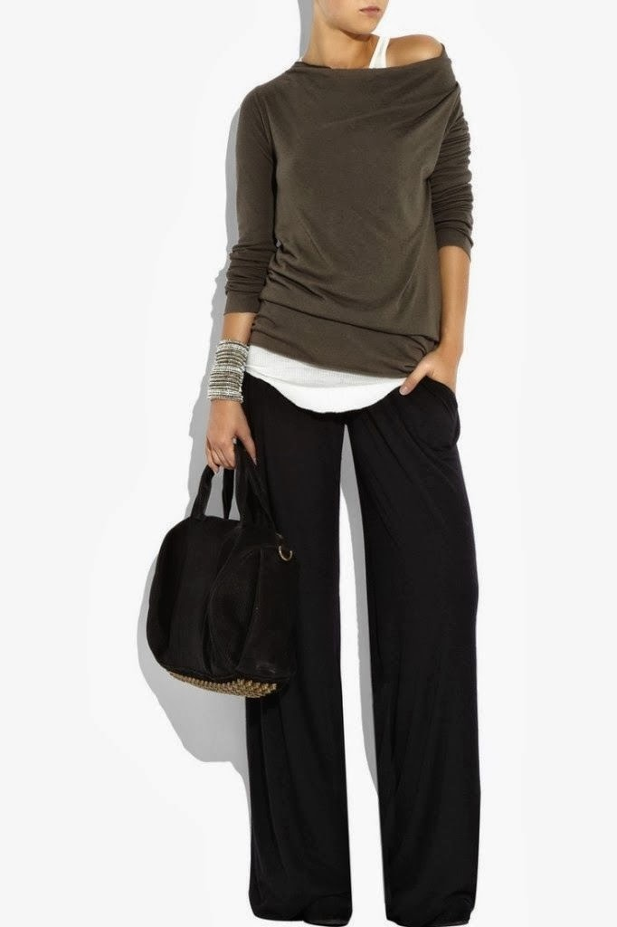 Cozy Outfit - Blouse, Pants, Handbag
