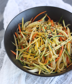 asian zucchini slaw with japanese seven spice dressing