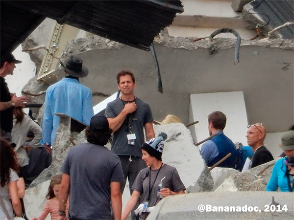 "Zack Snyder en el rodaje de ""Batman V Superman: Dawn of Justice"""