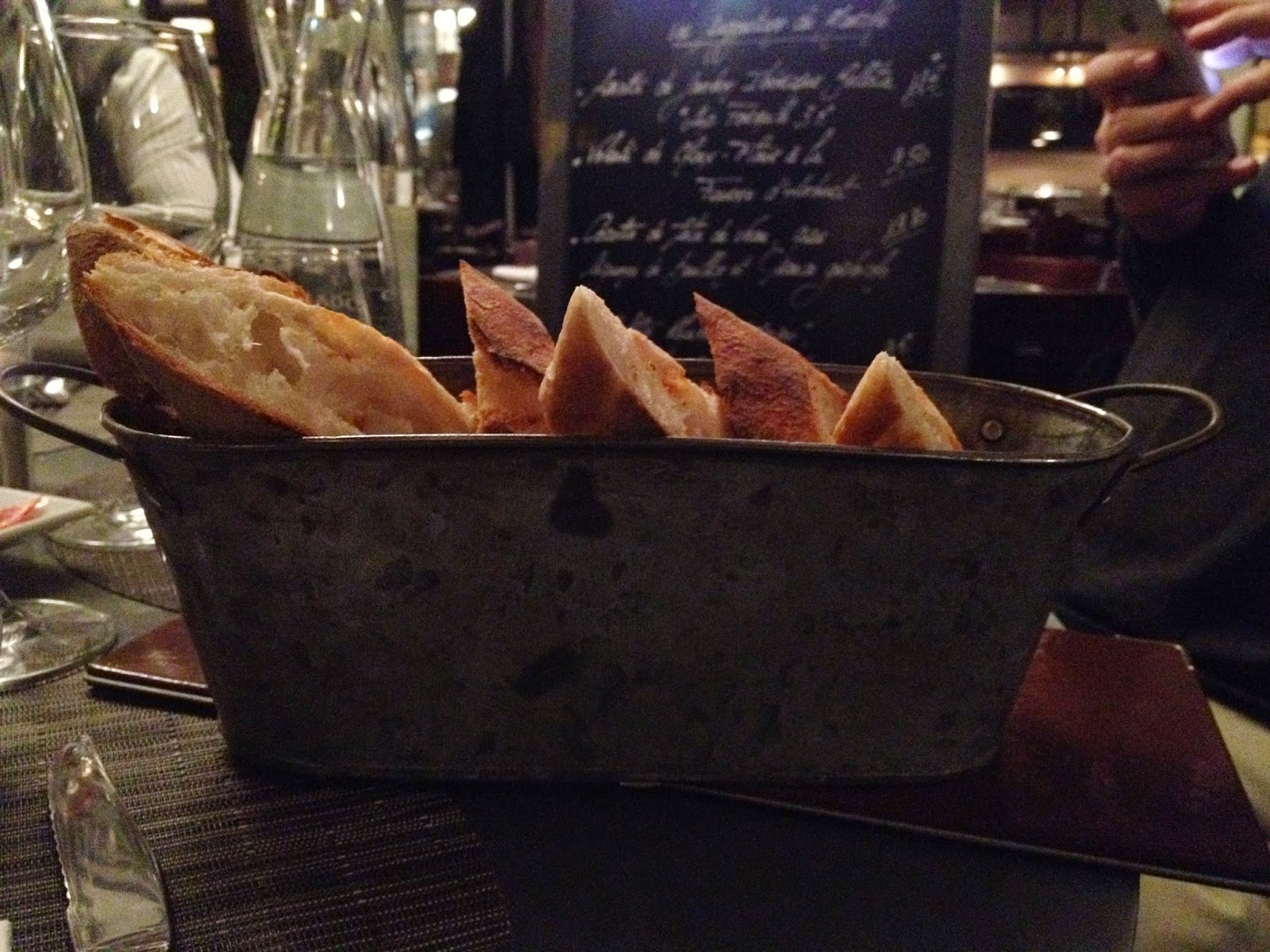 Stylish bread basket at Au Père Lapin, Suresnes, France