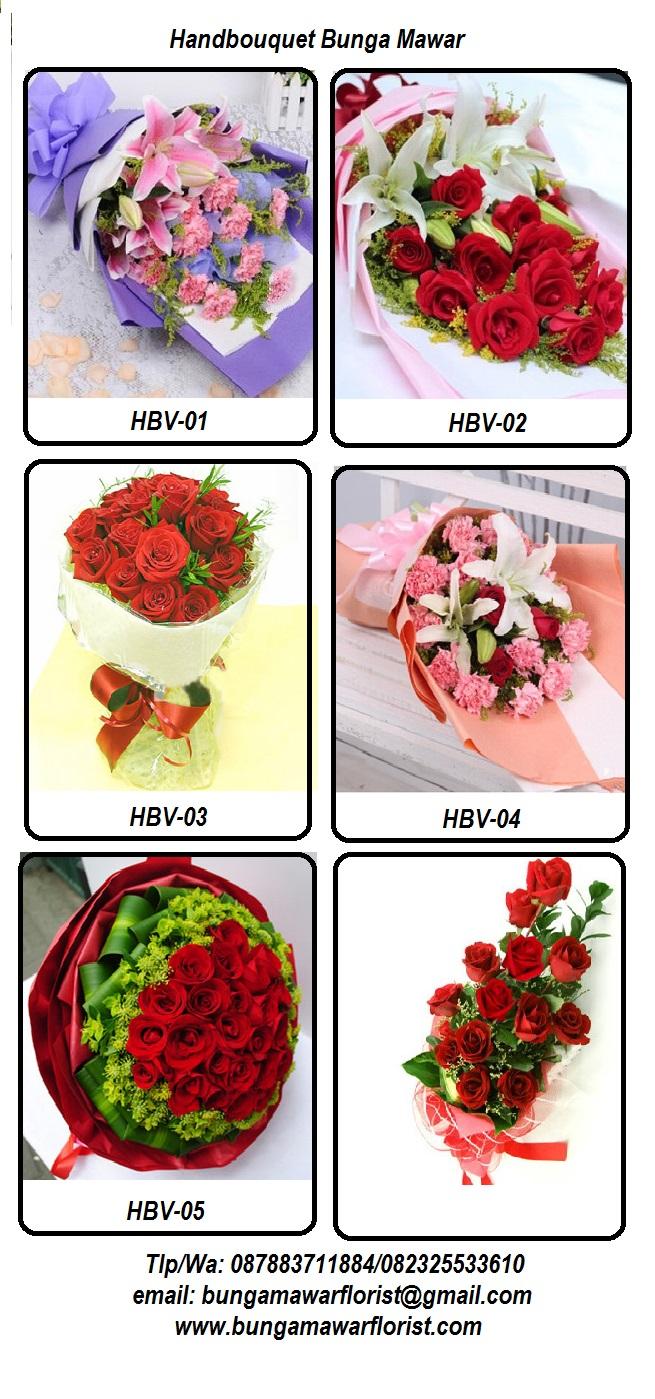 Handbouquet bunga mawar Jakarta