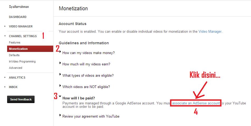 youtube adsense monetize