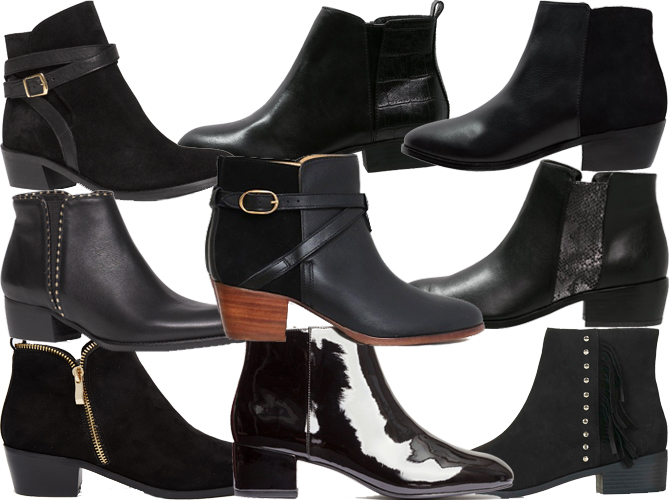 best black flat fall boots booties