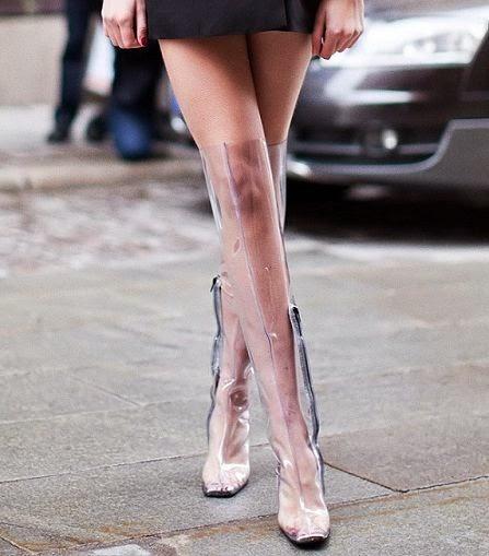 Botas transparentes para inverno 2014