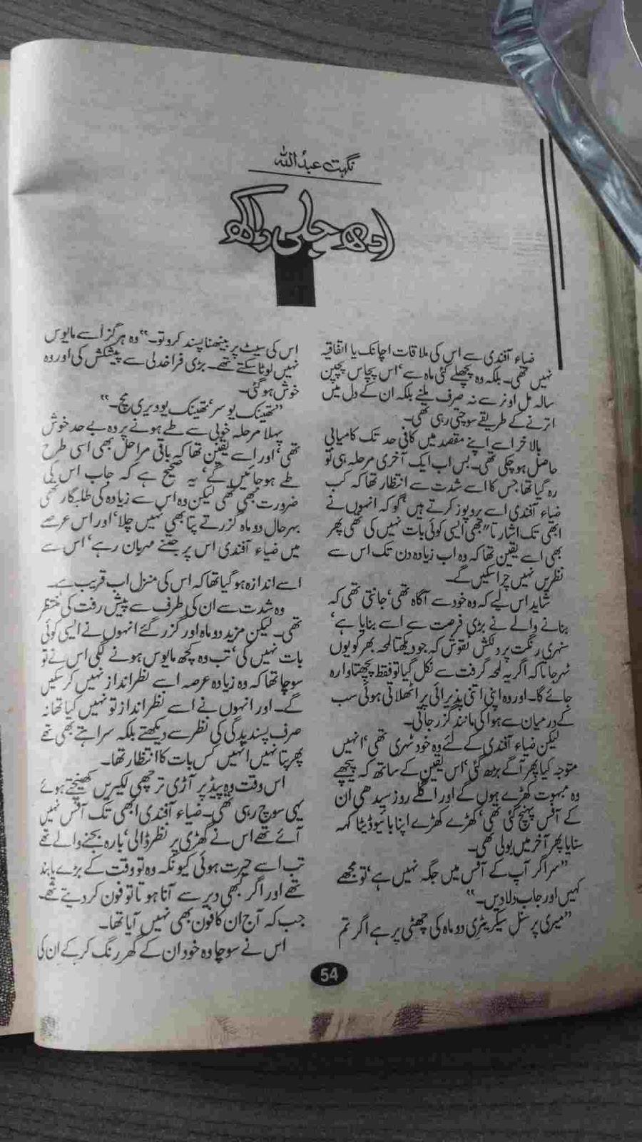 Adh jali raakh novel by Nighat Andullah Online Reading